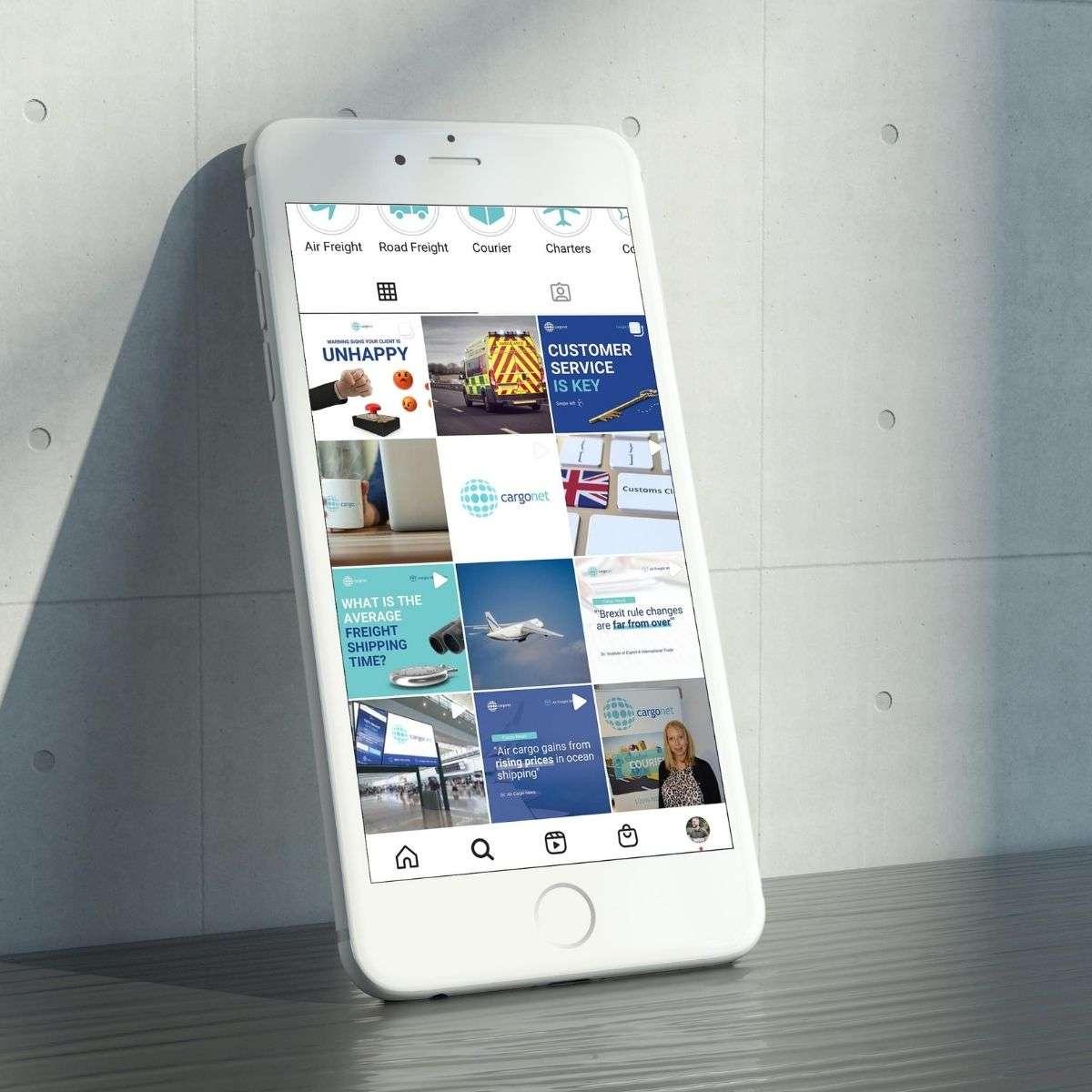 Cargonet Instagram Feed on Mobile