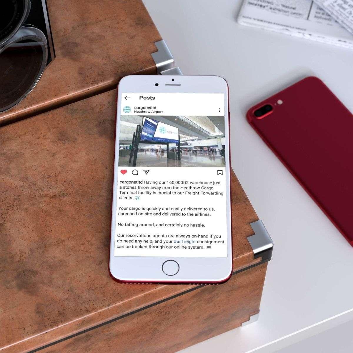 Cargonet Website on Mobile