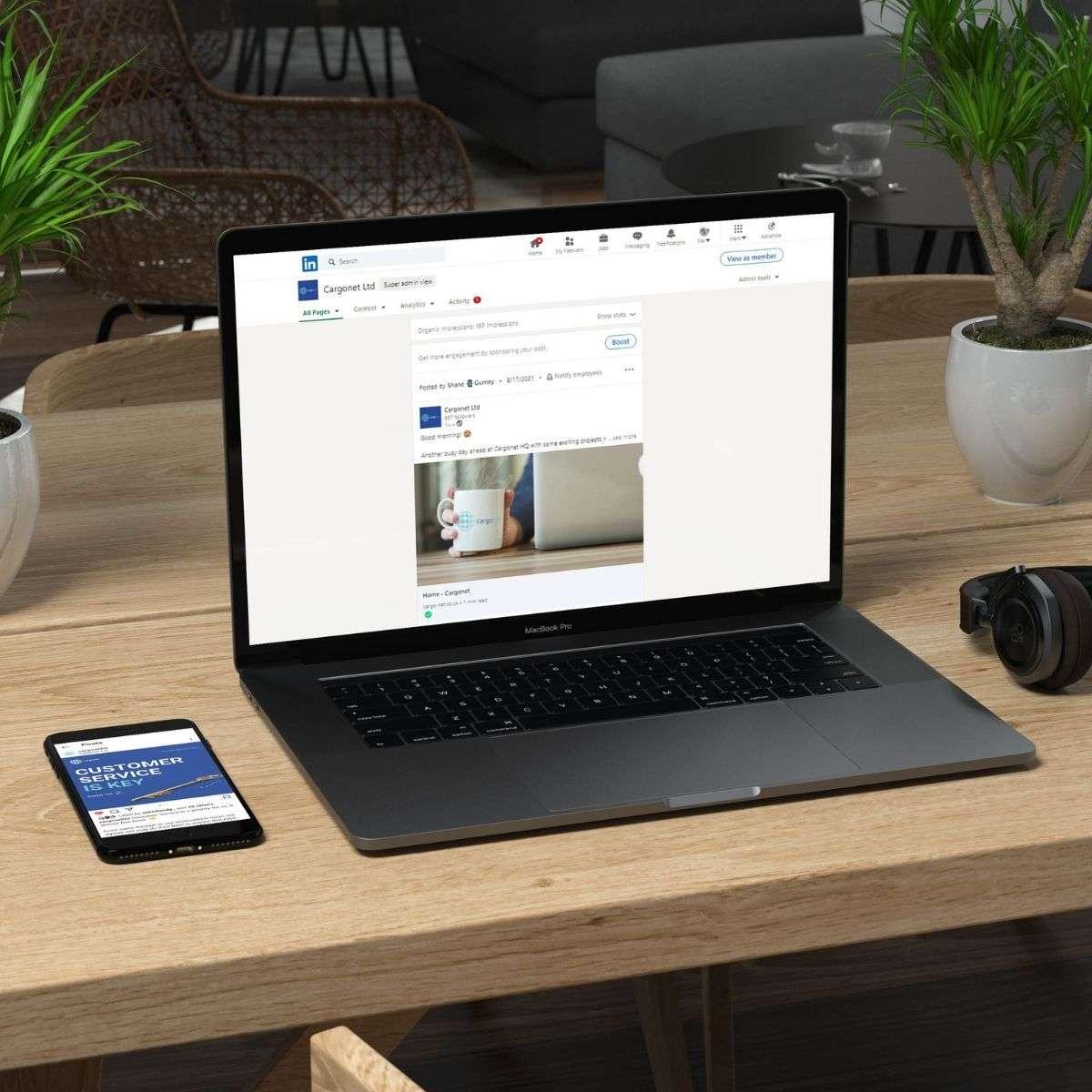 Cargonet Website on Mobile & Desktop
