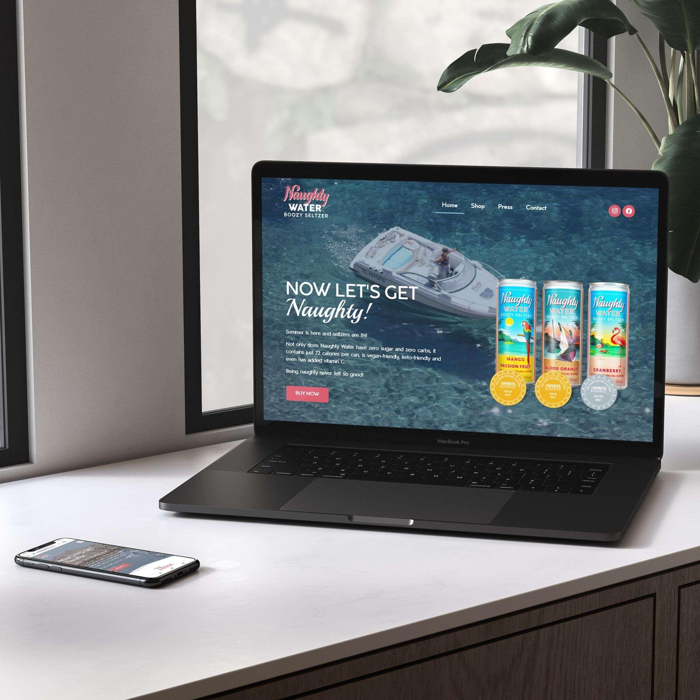 Naughty Water Website