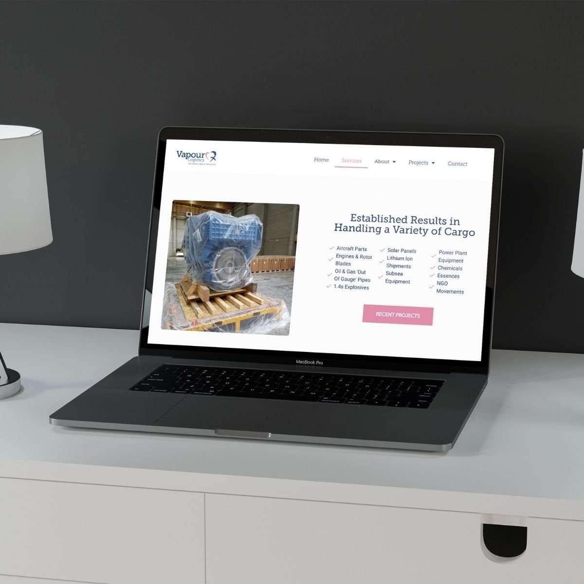 Vapour Logistics website (1)